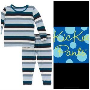 Kickee Pants Meteorology Stripe Pajama Set